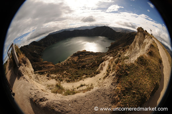Lake Quilotoa in Fisheye - Ecuador
