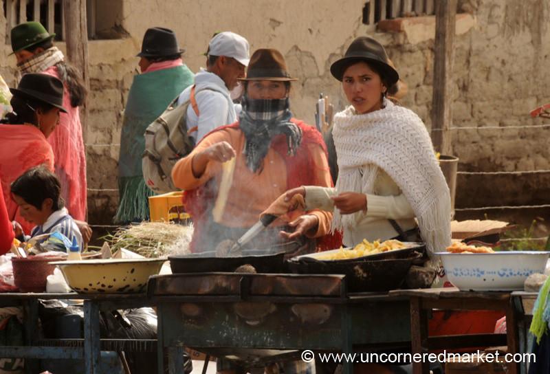 Frying Empanadas - Zumbahua, Ecuador