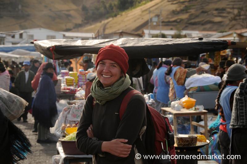 Audrey at the Zumbahua Market - Ecuador