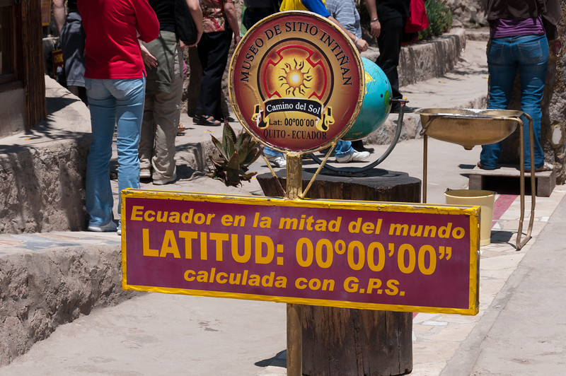 Latitude Marker at the Equator