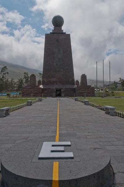 Monument marking the equator in Quito, Ecuador