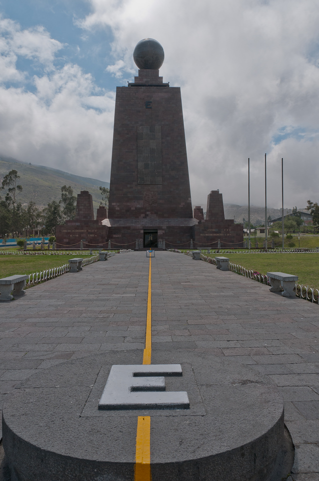 Monument marking the equator in Quito, Ecuador