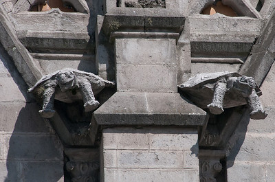 Turtle statues in Basilica of the National Vow, Quito, Ecuador