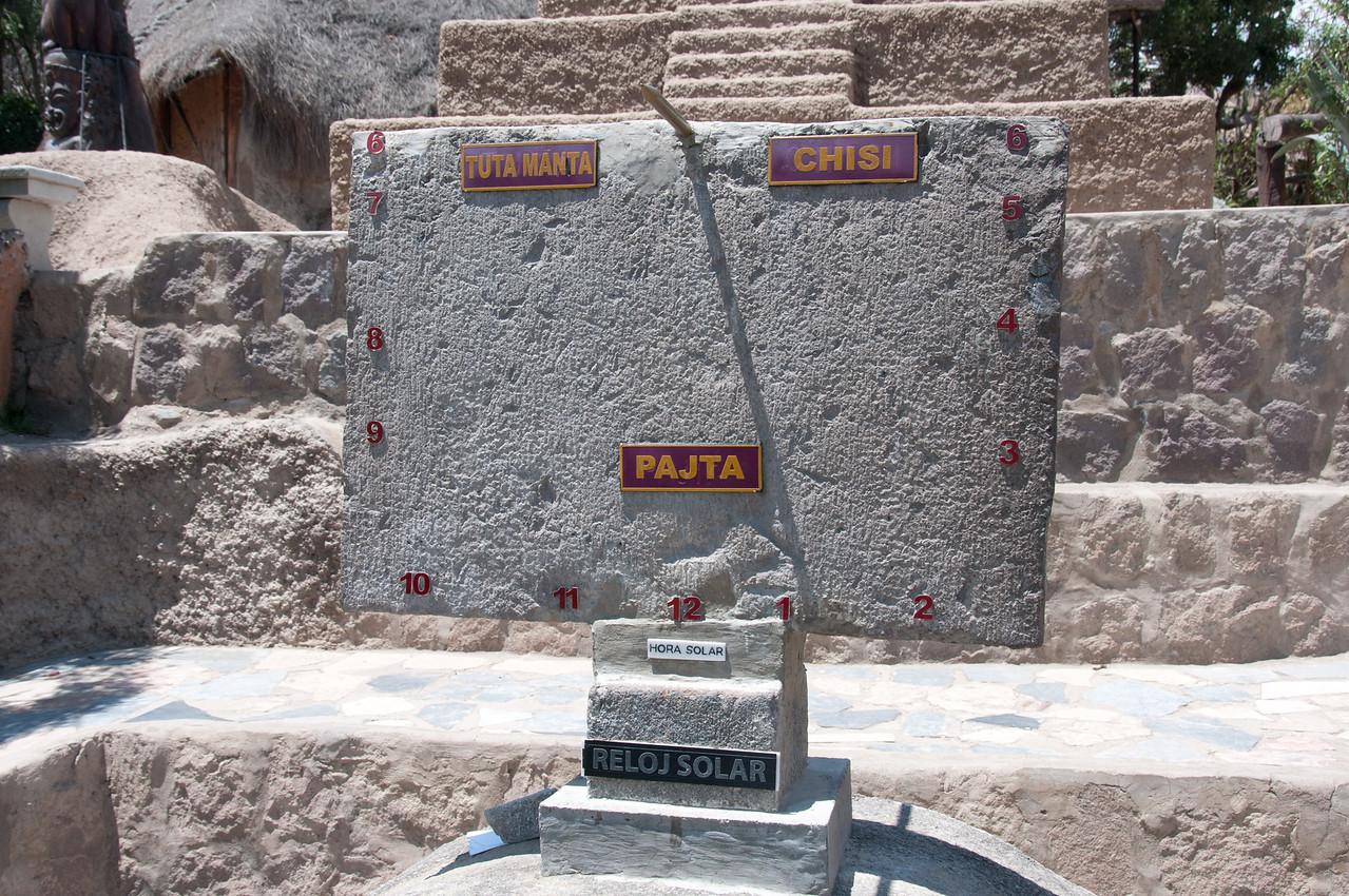 Solar clock at the Ecuator Museum, Museo de Sitio Intinan, Quito, Ecuador