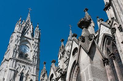 Basilica of the National Vow in Quito, Ecuador
