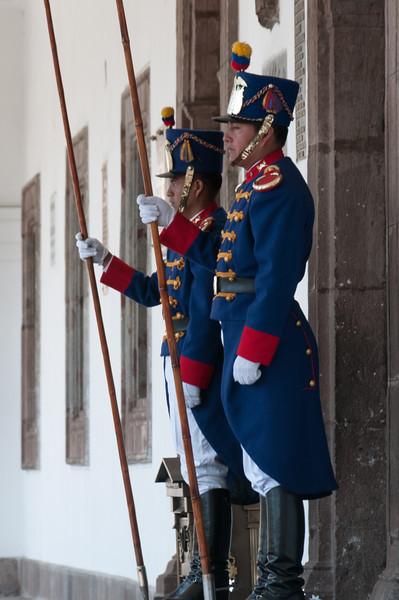 Presidential guards - Quito, Ecuador