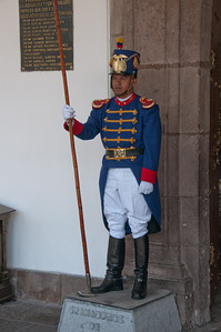Presidential guard - Quito, Ecuador