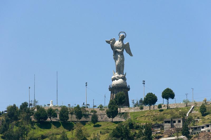 Virgin Mary statue in Quito, Ecuador