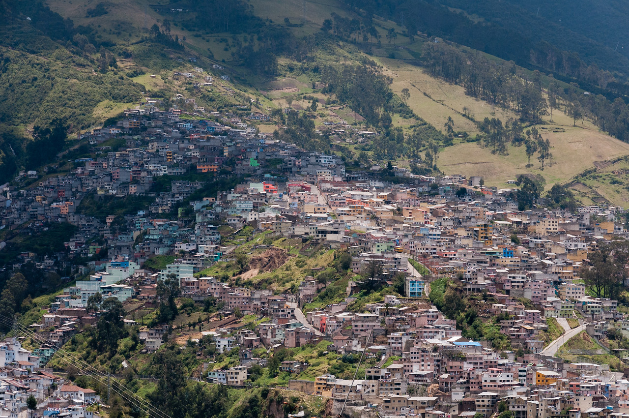 Aerial view of Quito, Ecuador