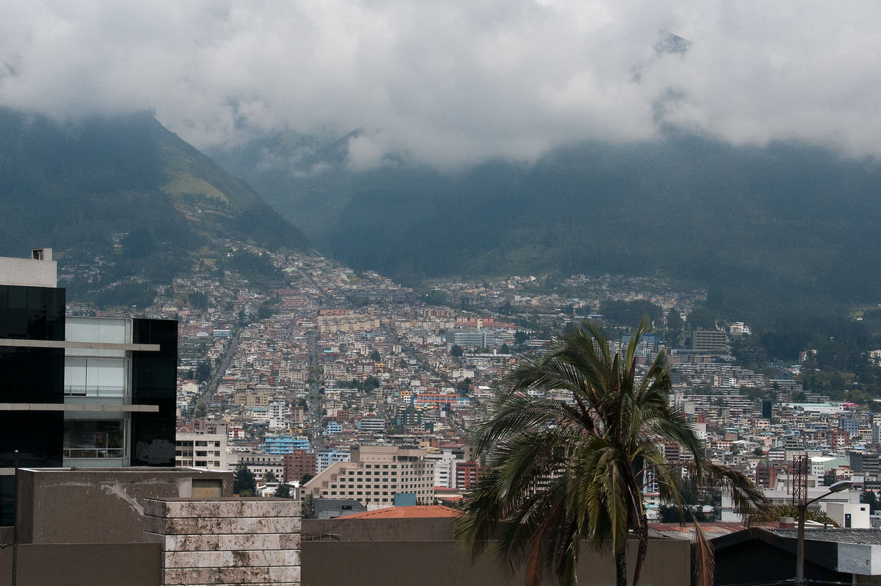 Skyline in Quito, Ecuador