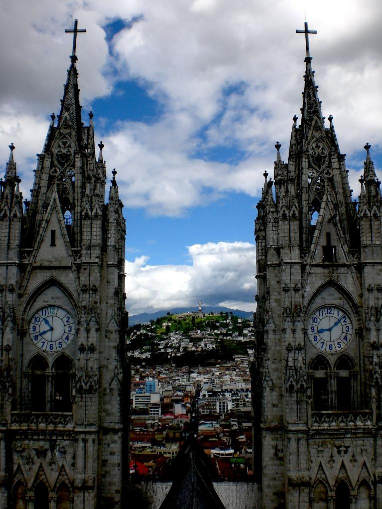 la basilica church towers