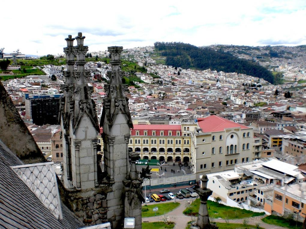 la basilica church quito view