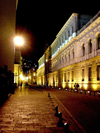 quito downtown at night