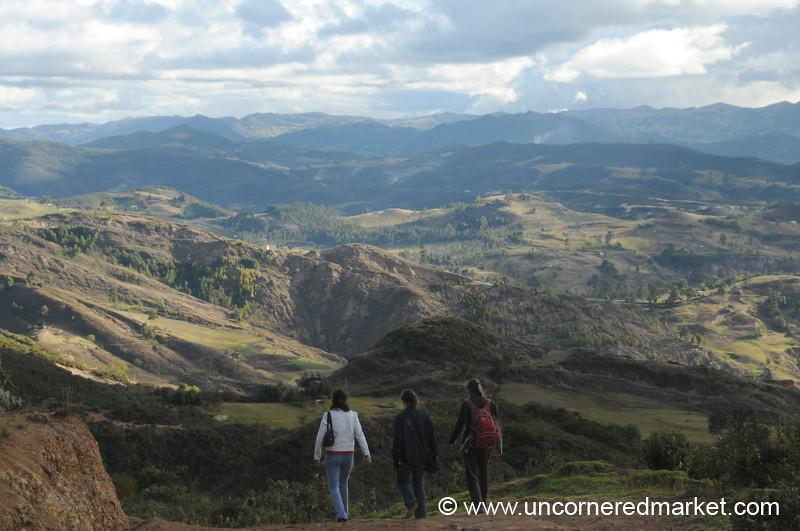 Walking to the Village - Outside Cuenca, Ecuador