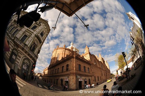 Fisheye View of Downtown Cuenca, Ecuador
