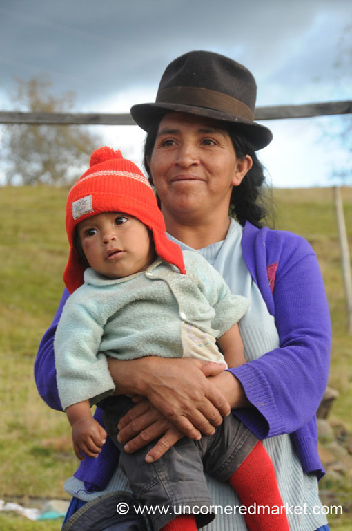 Mother and Little Tyke - Outside Cuenca, Ecuador