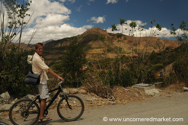 Riding Bikes Outside Vilcabamba, Ecuador