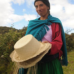 Showing Off Her Work - Outside Cuenca, Ecuador