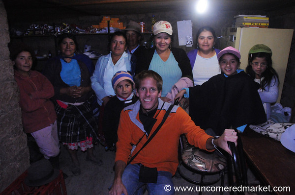 Dan With a Microcredit Group - Ingapirca, Ecuador