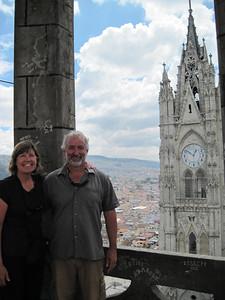 Atop Basilica Voto Nacional Tower