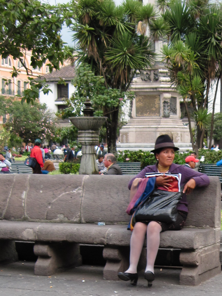 Resting in Quito Plaza