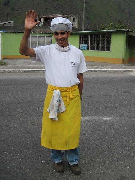 Asadero Waiter Waves Adios