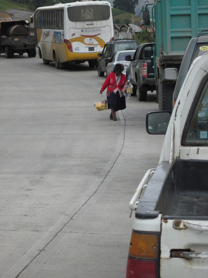 Selling Snacks at Traffic Jam
