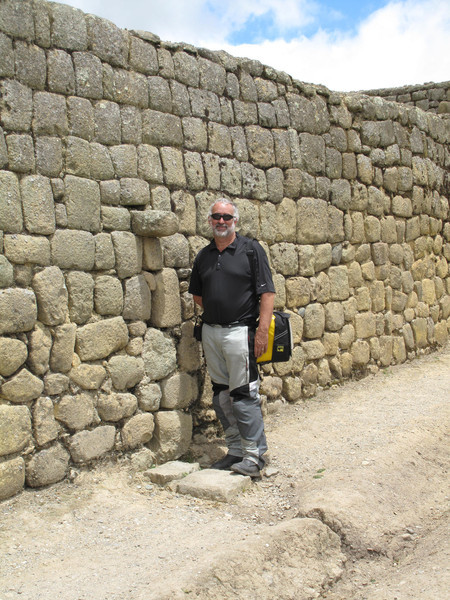 Jeff at Drain Spout in Ingapirca