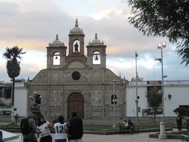 Church on Central Square in Riobamba