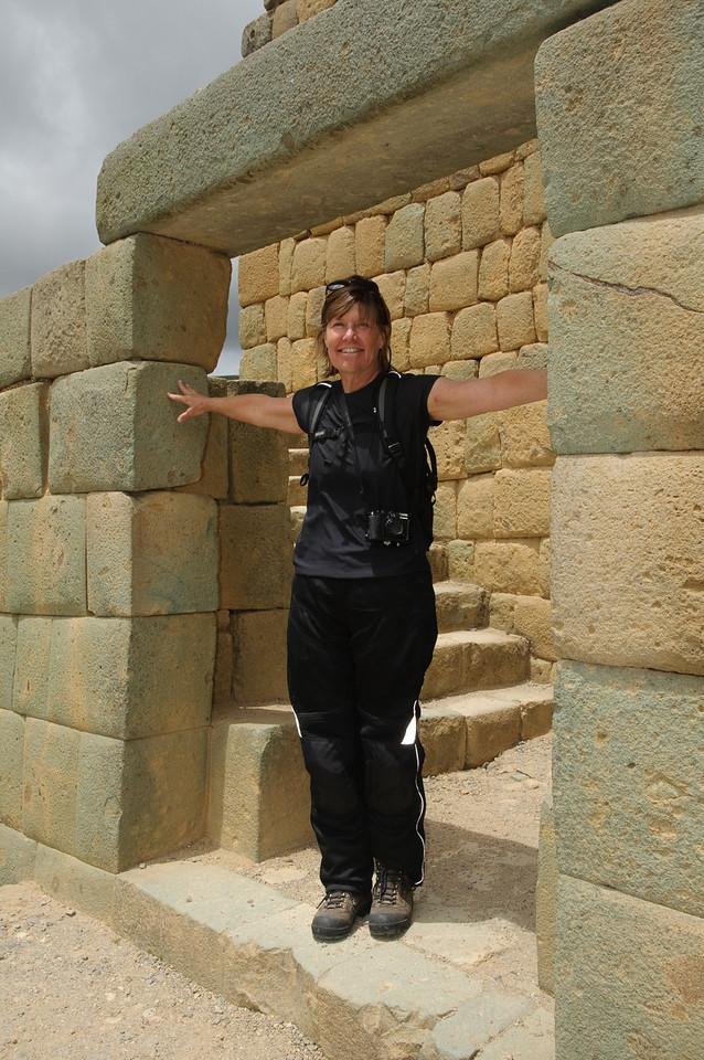 Wendy Under Ingapirca Arch