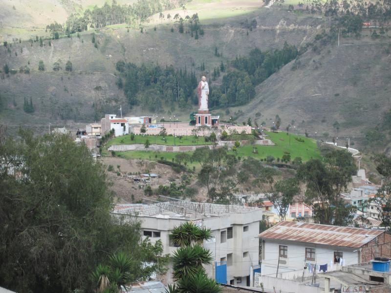 Statue Overlooking Town