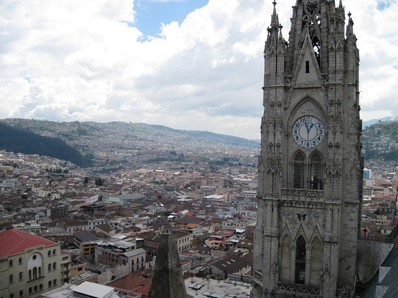 Basilica Voto Nacional Bell Tower & Old Town