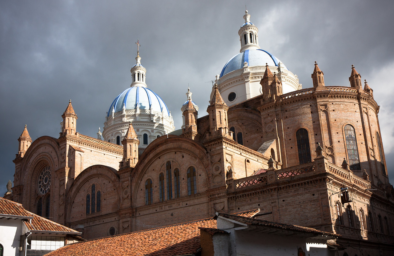 The city's 'New' Cathedral in afternoon sunlight.<br /> <br /> Location: Cuenca, Ecuador<br /> <br /> Lens used: 17-55mm f2.8 IS