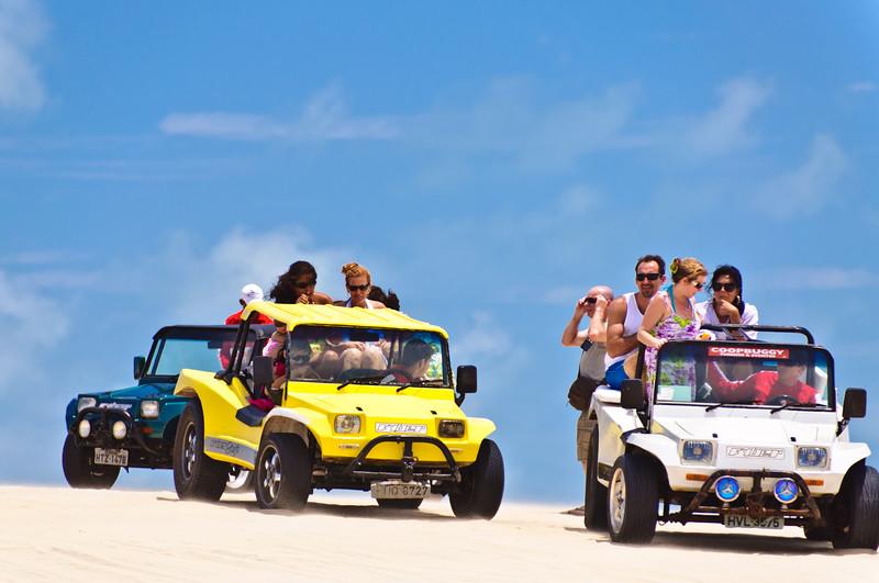 Dune Buggies. Morro Cliffs, seaside resort near Fortaleza, Brazil