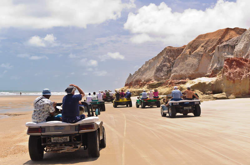 Dune Buggies at Morro Cliffs Near Fortaleza, Brazil