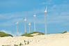 Wind turbines at Morro Cliffs near Fortaleza, Brazil