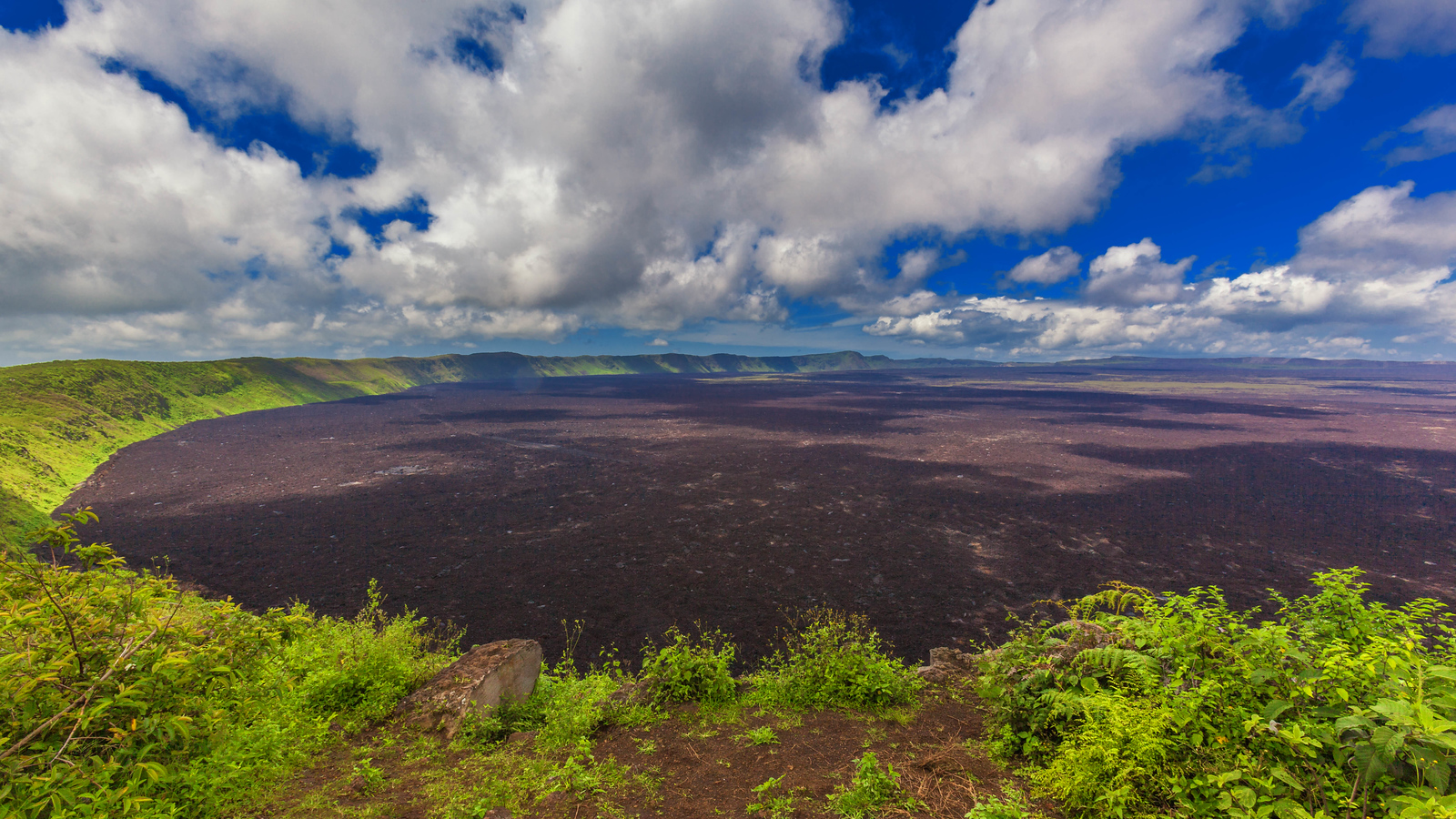 Looking over the caldera on Isabela Island