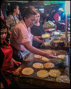Making Pupusas, Antigua