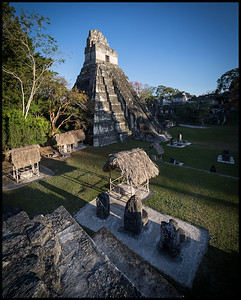 View of Temple II and the Gran Plaza, Tikal