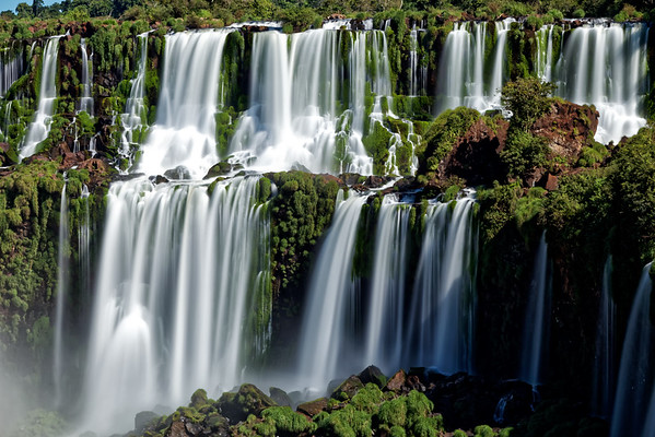 Adam and Eve Falls at Iguazu Falls in Argentina