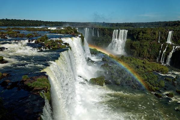 Rainbow country at Iguazu Falls, Brazil