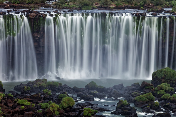 Rivadavia Falls at Iguazu Falls in Argentina, photographed from the Brazil side