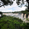 Walking along the length of the falls on the Argentinian side. Iguazu Falls, Argentina