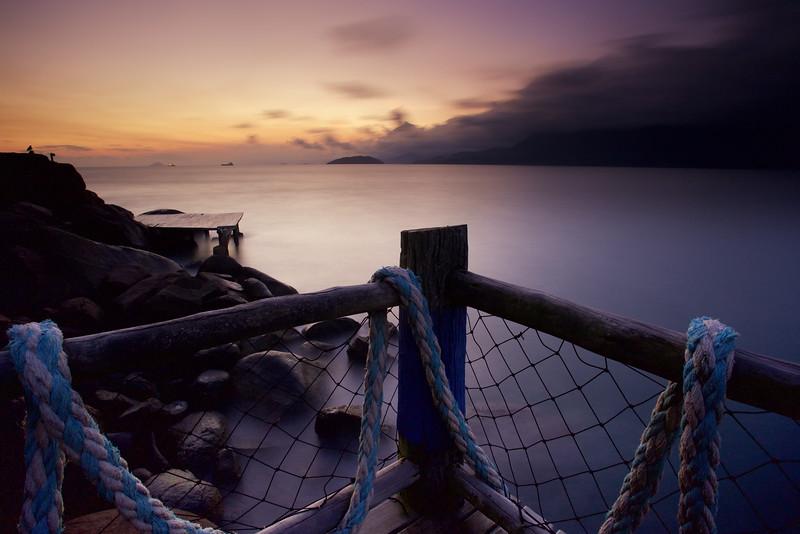 Sunset on Illhabella Island, Brazil