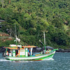 Ilhabella fishing boats are strikingly cute