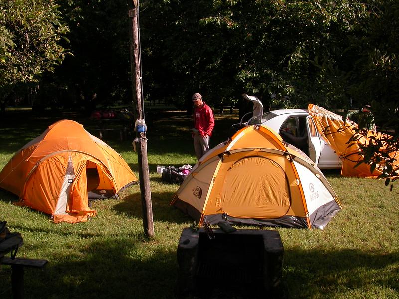 Pa 5733 op de camping van El Bolsón
