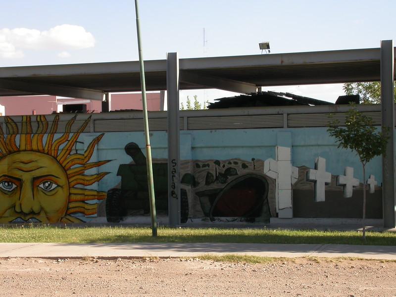 Ar 5268 Malvinas schildering in Neuquen