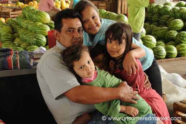 Family Portrait: Father and Kids - Asuncion, Paraguay
