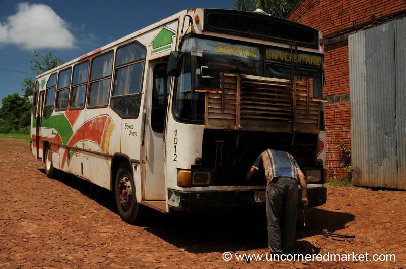 Another Broken-Down Bus in Paraguay