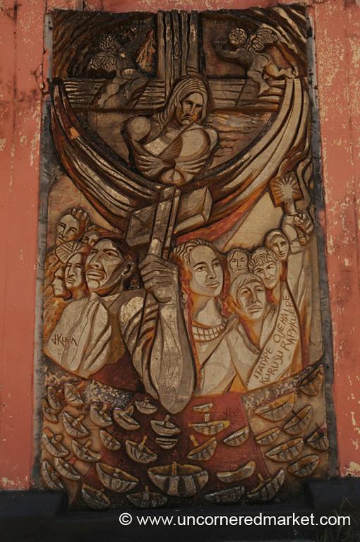 Mural: Christianity in Paraguay - San Ignacio